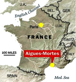 France Provence Aigues Mortes an unreal medieval fortified city