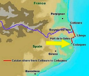 map collioure cadaques figueres