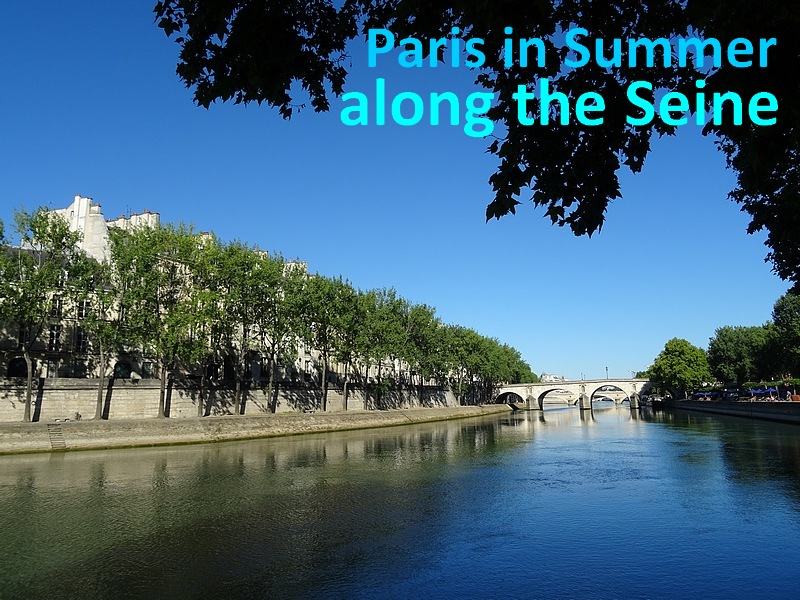 paris in summer along the Seine