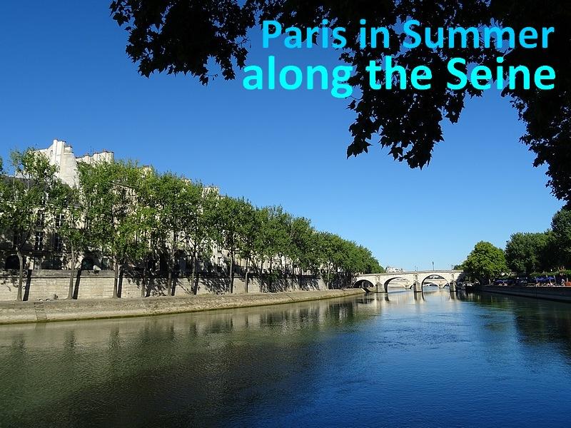 paris in summer along the Seine