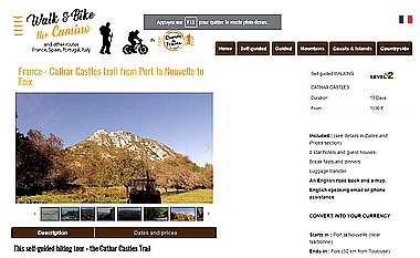 walk bike camino cathar castles